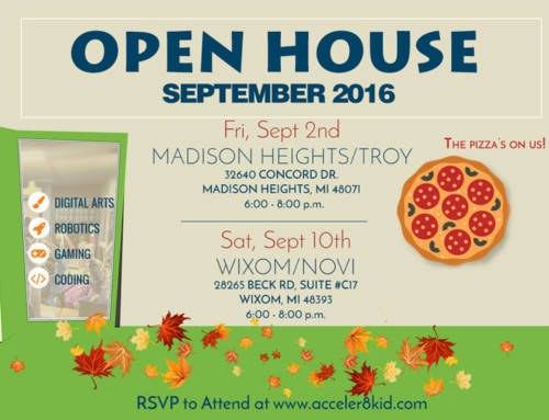 New Date andTime for Open House 2016